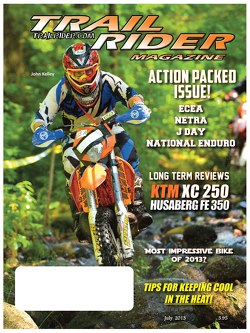 John Kelley on July 2013 Trail Rider cover