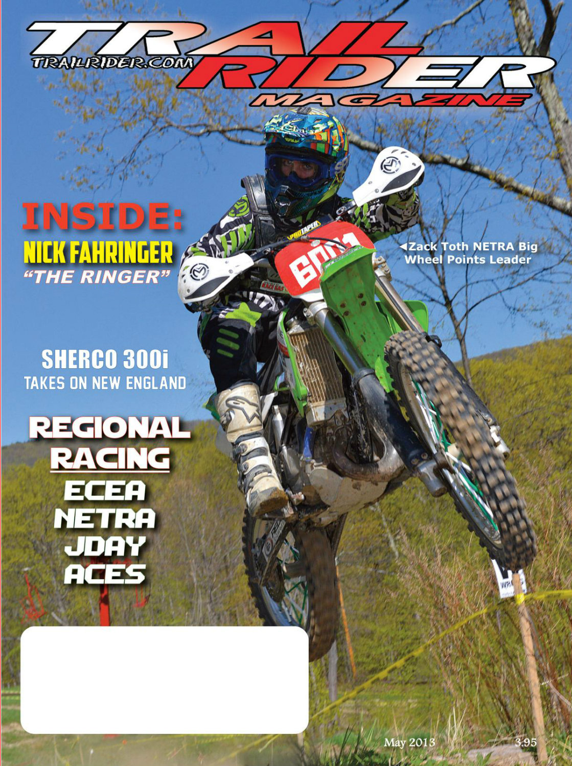 Zack Toth on the May 2013 Trail Rider cover