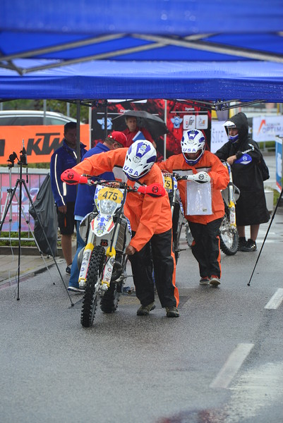 Ben, Josh and John going through technical inspection before impound - photo by Art Pepin