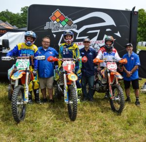 Josh Toth, Ben Kelley and Jason Klammer with our great sponsors from Malcolm Smith Racing Keith Hiser, Brent Harden and Paul Goyette.
